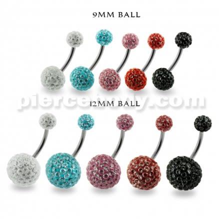 Multi Jeweled Genuine CZ belly piercing