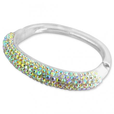Crystal stone 52mm Bracelet In Surgical Steel