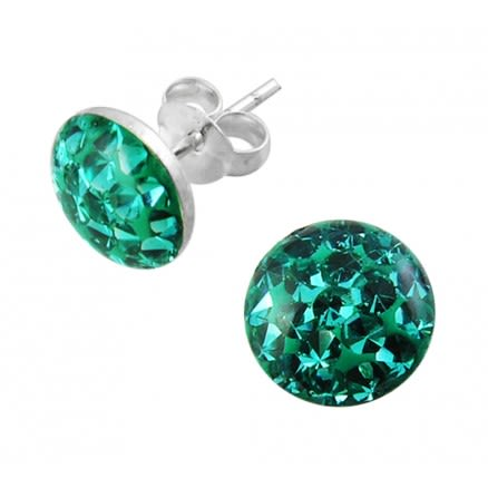 Crystal stone with Epoxy Earring