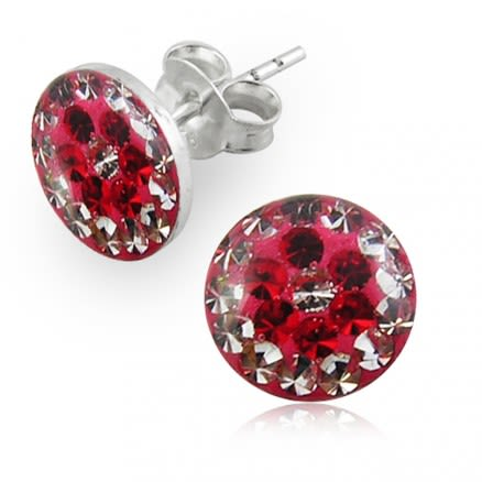 Crystal Flower Earring With Epoxy Cover