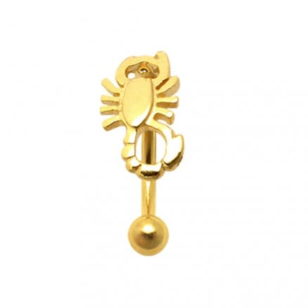 Gold Plated Tiny Scorpion Eyebrow Ring