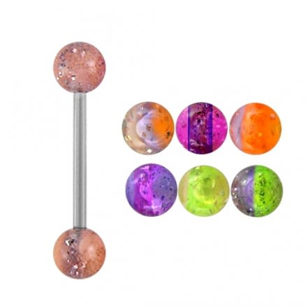 Straight Barbells with UV Balls