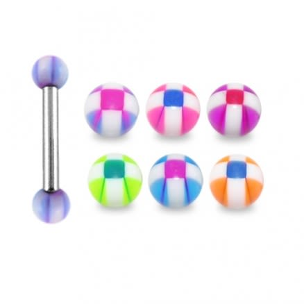 316L Surgical steel Eyebrow Barbells with UV Balls