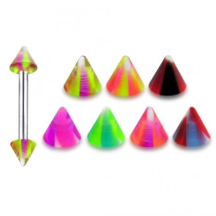 Color Cones 316L Surgical Steel Eyebrow Barbells