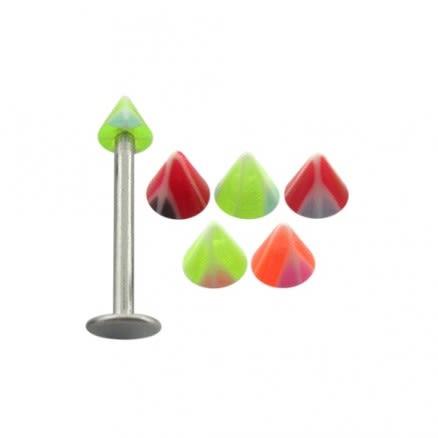 16G Steel UV Cones Chin Monroe Lip labrets