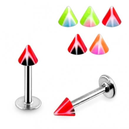 Surgical Steel & Anodized Tragus Labrets Monroe Lip Bar Cones