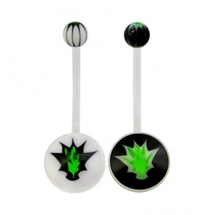 Bio flex with marijuana logo with black & white base