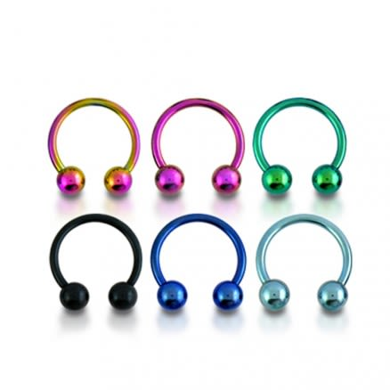 316L Surgical steel Anodised CBB with Ball