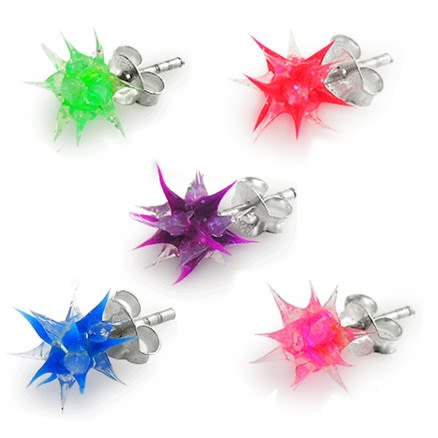 Glittered Spiky Silicone Ear Stud
