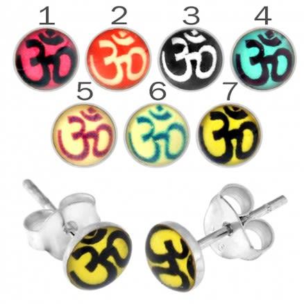 Ohm Logo Silver Earring