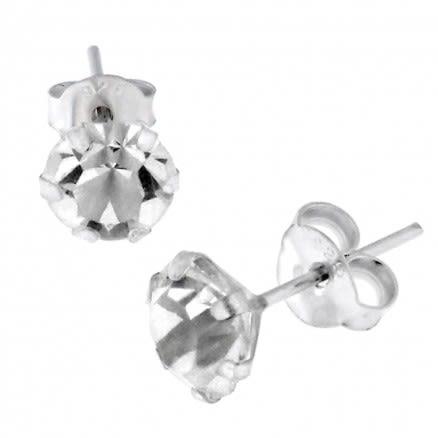 5mm Jeweled Earring Silver Earring