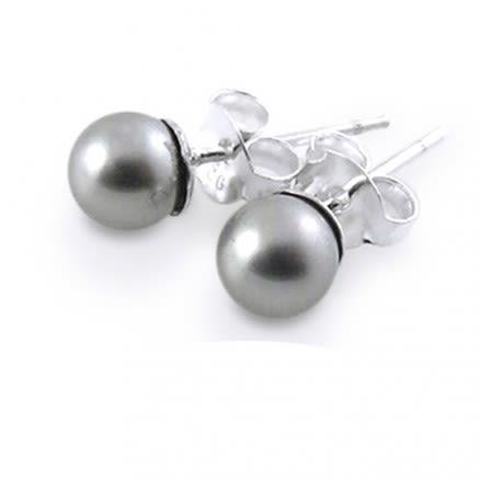5mm Pearl Silver Earring