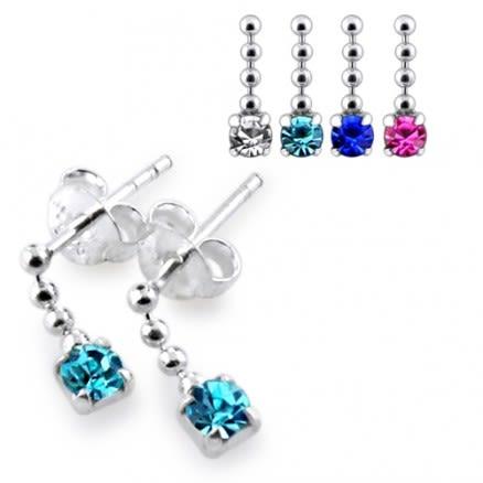 Jeweled Chain Dangling Earring