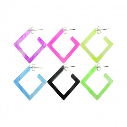 18mm UV React Fashionable Diamond Earring