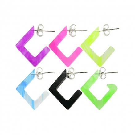 10mm UV React Fashionable Diamond Earring