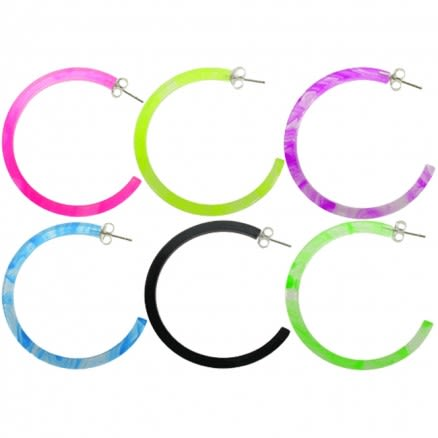 32mm UV React Fashionable Circle Earring