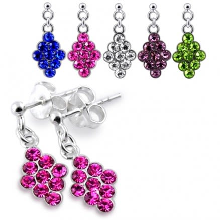 Jeweled Dangling Earring