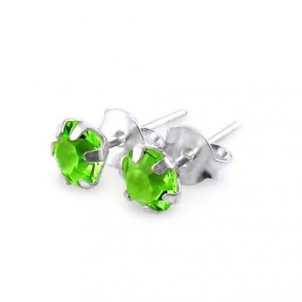 Fancy Jeweled Silver Earring