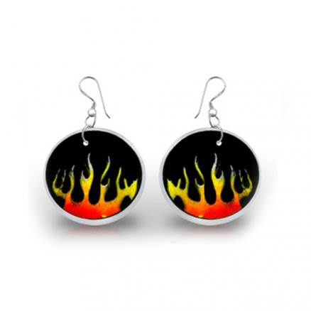 Fired Logo Earring