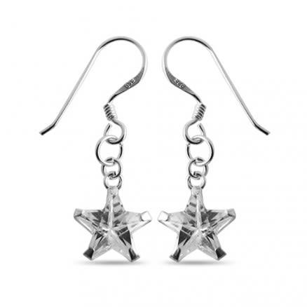 Sterling Silver Star CZ Earring