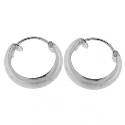 925 Sterling Silver Classic Plain Hoop Earring