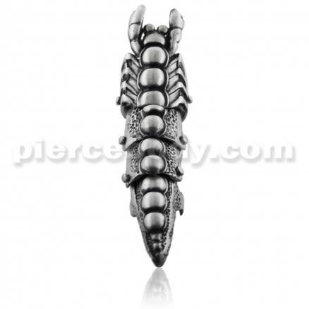 Full Finger Pewter Scorpion Armor Ring
