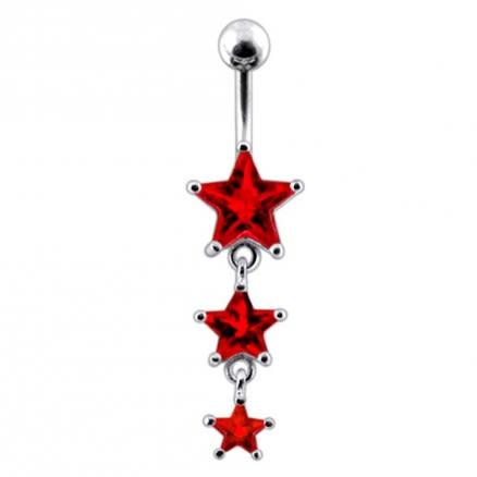 Moving Jeweled Star Body Jewelry