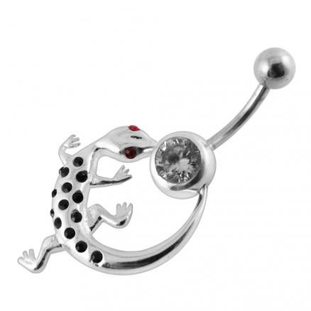 Moving Jeweled Lizard O'ring Body Jewelry