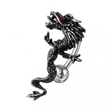 Moving Dragon Belly Ring