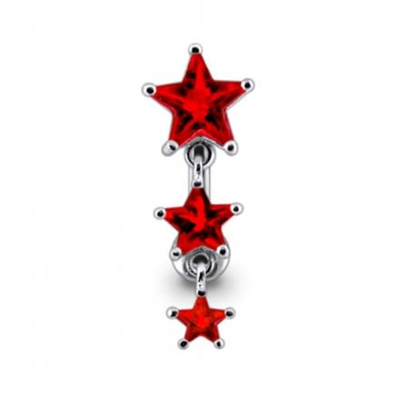 Dangling Stars Reverse Navel Ring