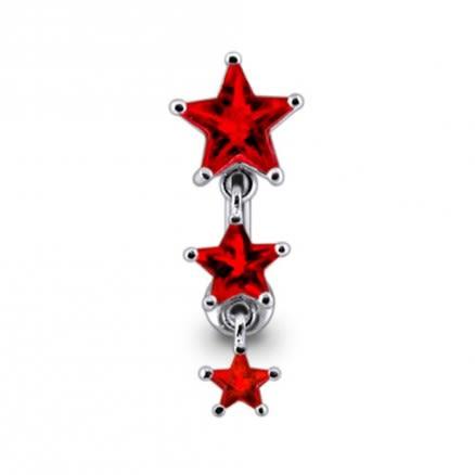 Dangling Stars Reverse Navel Ring