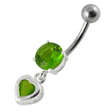 Moving Jeweled Belly Ring