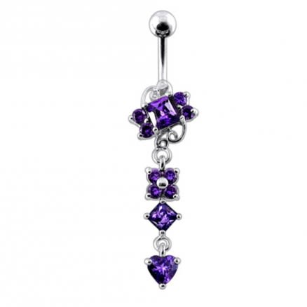 Moving Jeweled Fancy Belly Button Ring
