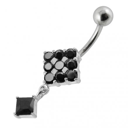 Moving Fancy Jeweled Navel Ring