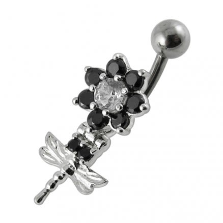 Moving Fancy Jeweled Belly Button Ring