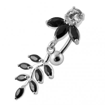 Fancy Moving Jeweled Belly Ring