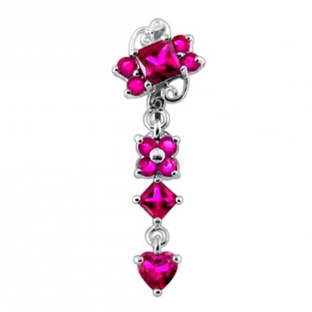 Moving Fancy Designed Navel Body Jewelry