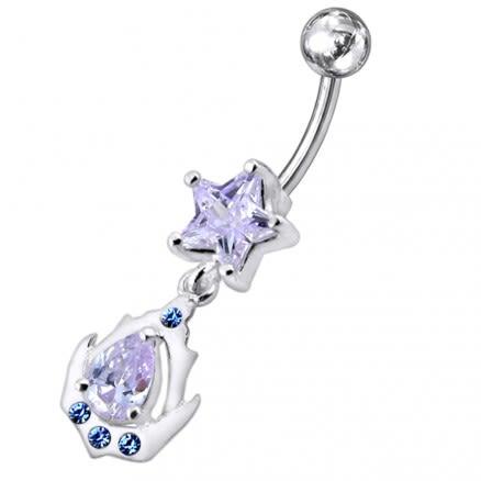 Jeweled Star Navel Ring