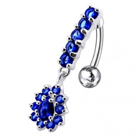 Silver Reverse Belly Button Ring PBM0736