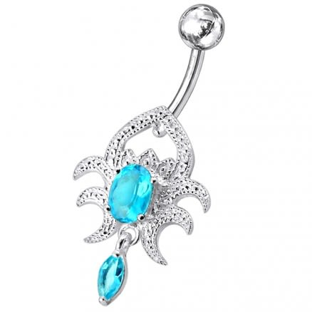 Silver Navel Body Jewelry