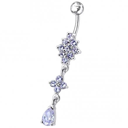 Charming Look Dangling Belly Moving Ring