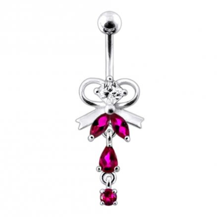 Neck Tie Dangling Belly Moving Ring