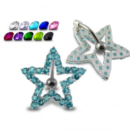 Navel Around Star Belly Moving Ring