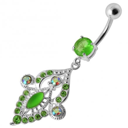 Chandelier Jeweled Dangling Belly Ring