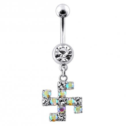 Swestic Shaped Dangling  Belly Ring