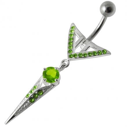 Sharp Weapon Dangling  Belly Ring