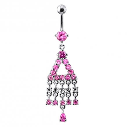 Traditional Jeweled Dangling Belly Ring