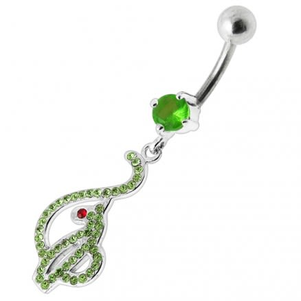 Baby Phat Dangling Jeweled Belly Ring