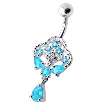 Fancy Royal Dangling Multi Jeweled Navel Ring