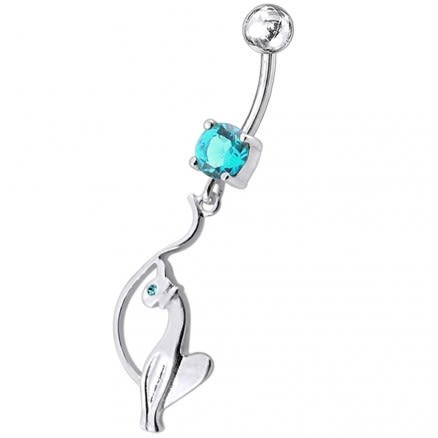 Jeweled Baby Phat Dangling Belly Ring